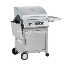 Discount Price for Propane Gas BBQ Grill 3 Burners Gas Grill With Folding Side Table supply to Italy Manufacturer